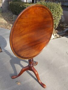 Statton Solid Cherry Wood Tilt Top Table