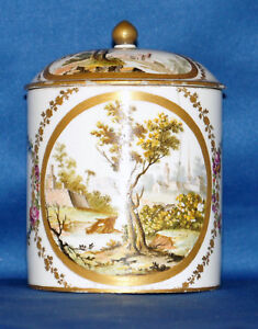 18th 19th Century Sevres Covered Box Tobacco Jar