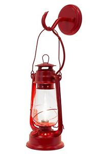 Rustic Authentic Lantern Wall Sconce Large Red Muskoka Lifestyle Products Usa