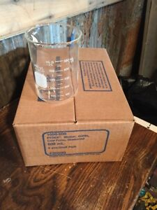 Case Of 6 600ml No 1000 Pyrex Beakers By Corning New In Box