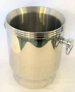 Large Stainless Steel Ice Bucket 4l Liters 1 Gallon 4 qt Quarts Double Wall New