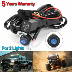 40a 12v Wiring Harness Power Switch Relay Kit Cable For 2 Led Work Light Bar Suv