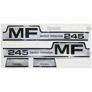 Massey Ferguson Mf 245 Hood Decal Set