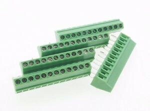 100 Terminal Blocks 2 54mm 0 1 12p Pcb Connectors Screw Type