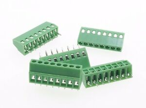 100 Terminal Blocks 2 54mm 0 1 8p Pcb Connectors Screw Type