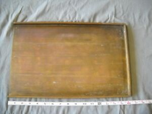 Vintage Brass Printers Tray Typesetting Letter Press Print Block Graphic Arts