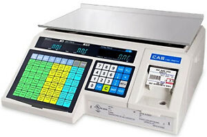 Cas Corp Scale Label Printing Scale 30lb 4000 Plu