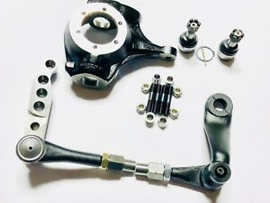 Gm Chevy Jeep Dana 44 Complete 1 Ton Crossover High Steer Kit W Knuckle Warranty