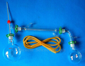 500ml 24 29 glass Distillation Apparatus lab Chemistry Glassware Kit