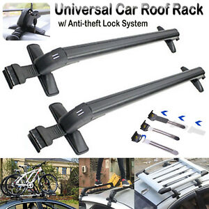 Universal Roof Rack Cross Bar Cargo Carrier With Anti Theft Lock System 43