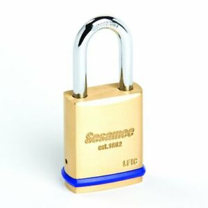Sesamee 56011 Large Format Interchangeable Core Brass Padlock With 1 3 4 inch