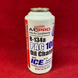 A C Pro Auto Air Conditioning R 134a Pag 100 Oil Charge W O Ring Conditioner