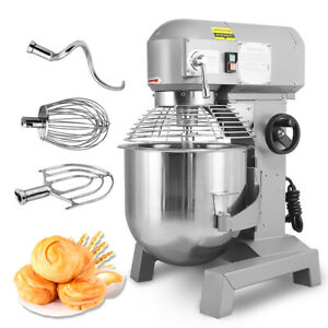 30qt Commercial Dough Food Mixer Gear Driven Bakery Blender Kitchen 3speed 2 4hp