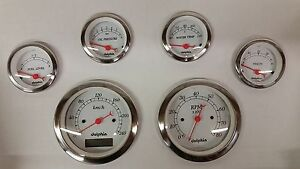 6 Gauge Hot Rod Street Rod Universal Dash Set Metric Programmable Speedometer