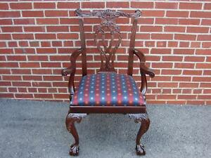 Nos Councill Craftsmen Mahogany Chippendale Chair 2 Henkel Harris Quality