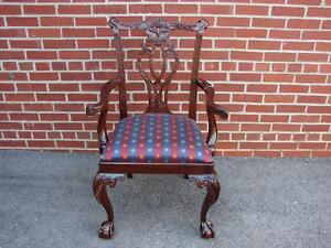 Nos Councill Craftsmen Mahogany Chippendale Arm Chair 1 Henkel Harris Quality