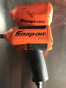 Snap On Orange Mg725 1 2 Drive Heavy Duty Air Impact Wrench Almost New