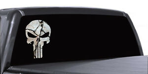 Punisher Skull Cracked Rock Stone Military Decal Sticker Graphic Various Sizes