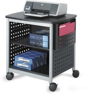 Printer Stand Rolling Table Home Office Furniture Shelf Tray Storage Study Cart