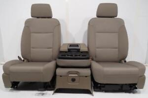 Gmc Sierra Front Seats Silerado Jump Seat Console Suburban New Take Out 15 18