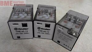 Mixed Lot Of 3 Finder 60 12 60 12 8 120 0030 Relay 10 A 250 V Ac