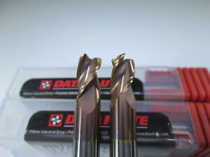 Lot 2 Data Flute Carbide 1 4 End Mill 3 Flute Milling Bridgeport Tool Bit