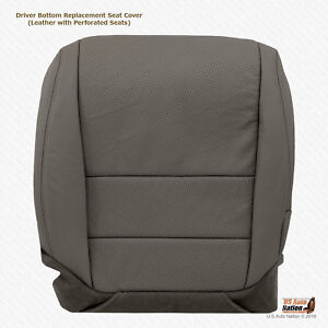 For 2004 2005 2006 Acura Tl Driver Bottom Gray Perforated Leather Seat Cover