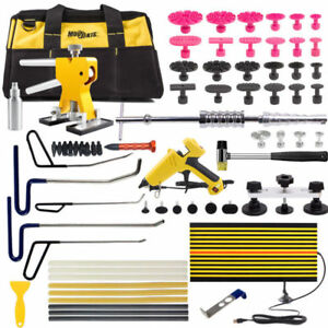 Pdr Kit Paintless Dent Repair Puller Lifter Hammer Hail Removal Led Board Tools