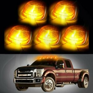 5xamber Cab Marker Roof Running Light W 194 Amber Led For 99 18 Ford F 250 F 350
