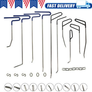Car Pdr Tools Paintless Hail Puller Rods Dent Repair Removal Auto Body Hooks Kit