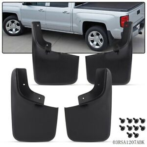 4 Pcs Molded Splash Guards Mud Flaps New Front Rear For 2004 2014 Ford F 150