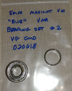 Emco Maximat V10 blue Vertical Milling Parts Quill Bearing Set 2 020618