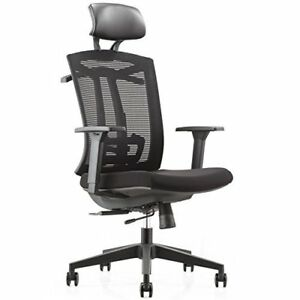 Office Chair Tall High back Seat Glide With Pu Headrest Suit Hangers Back Caring