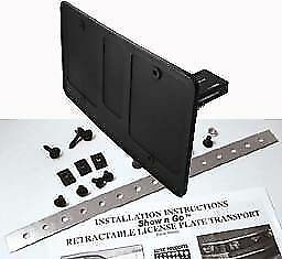 Show N Go Manual Retractable License Plate Frame Fits All Cars Universal