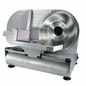 Electric Meat Slicer Stainless Blade Deli Food Cutter For Home Or Commercial Use