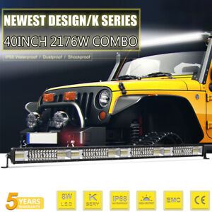 40inch Led Work Light Bar Cree Spot Flood Combo Jeep Truck Offroad Driving Lamps