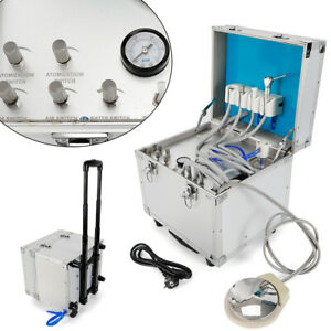 Portable Dental 4h Unit system Metal Mobile Delivery Rolling Case air Compressor
