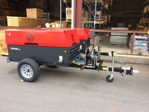 185 Cfm 100 Psi Portable Air Compressor With Hose Reel Chicago Pneumatic Cps185