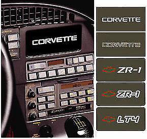 C4 Corvette 1990 1996 Information Center Coverplates