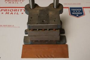Danly Precision Press 2 Post Die Set Die Shoe Copper Smith Feathering Cutter