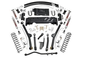 Rough Country 4 5 Jeep Long Arm Suspension Lift Kit 84 01 Xj Cherokee 61622