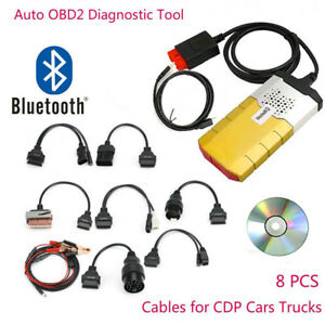 Tcs Cdp Bluetooth Ds150e 2015 3 For Autocom Obd2 Diagnostic Tools 8pcs Car Cable