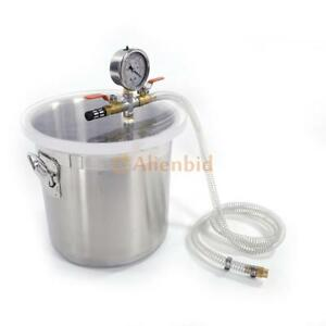 3 Gallon Vacuum Chamber Tank Silicone Resin Deaeration Barrel Seals High Quality