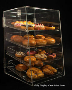 4 Tier Acrylic Donut Pastry Display Case With Removable Trays Size 12 w X 14 d