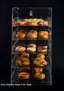 5 Tier Acrylic Bakery Bagels Display Case W removable Trays 12 w X 14 d X 23 h