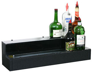 Glastender 2 Tier Lighted Liquor Display 24 With Cord On Left