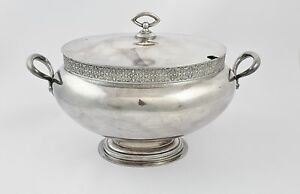 Beautiful Antique Silverplated Soup Tureen