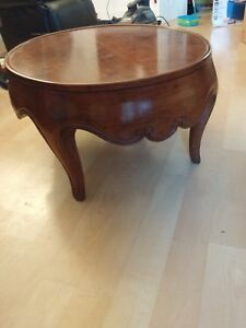 Baker Furniture Handmade Very Rare Solid Walnut Drum Table Matched Grain Top