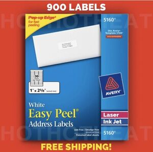 900 Avery 5160 6240 8160 5960 5260 Address Mailing Shipping Labels 1 X 2 5 8