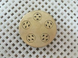 59mm Bronze Pasta Die For Dolly Ii Or Nina Extruder Attachment